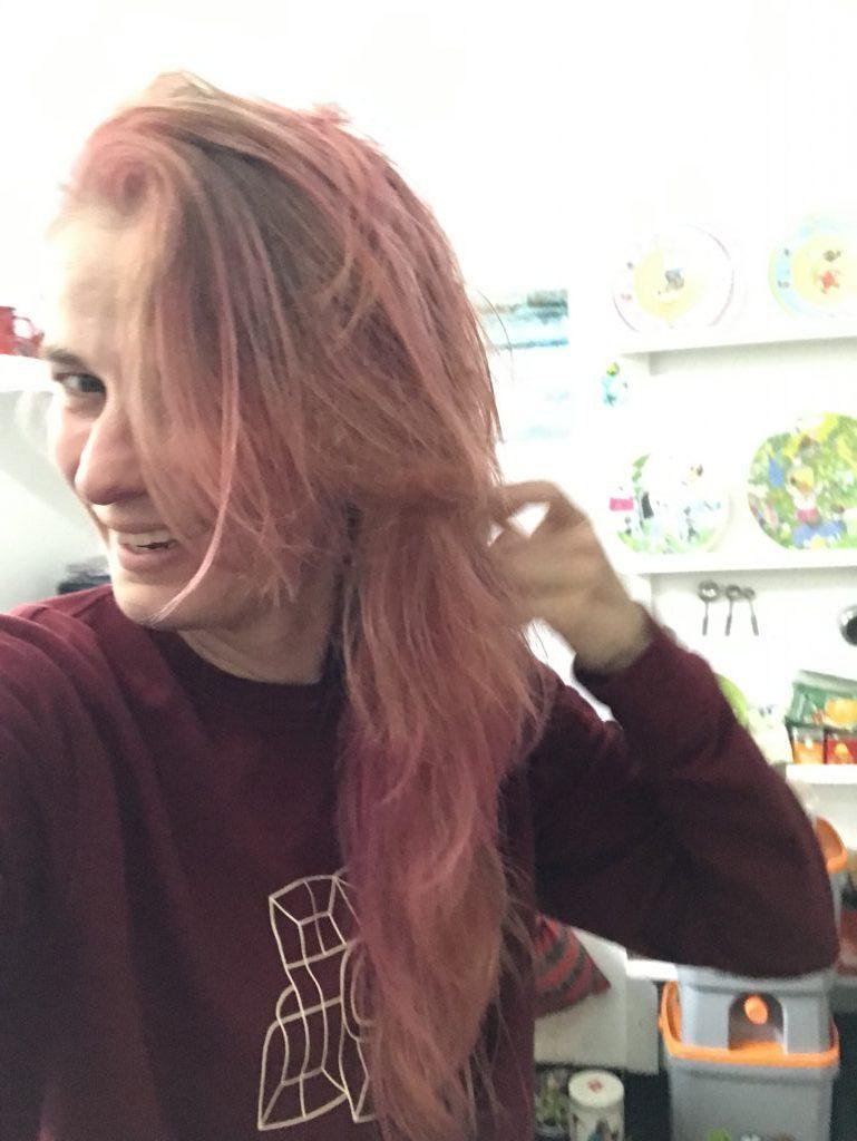 Roze haar!